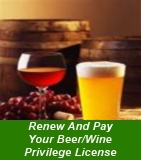 Renew and Pay Your Beer/Wine Privilege License